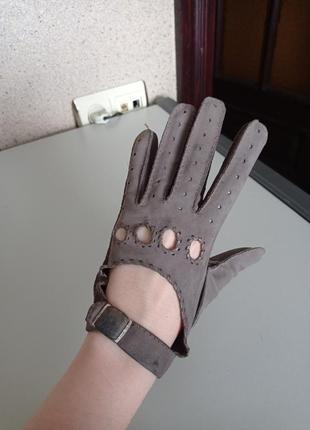 Изящные кожаные перчатки. 100% кожа