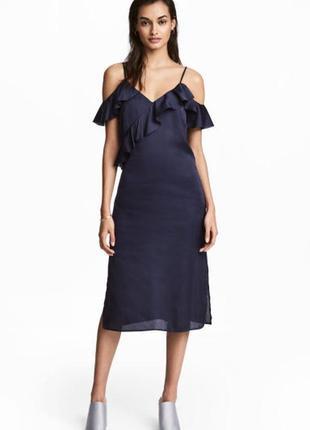 Платья  h&m, миди-платья , атласное платье