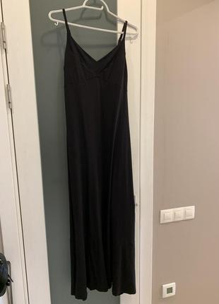 Длинное платье трапеция, можно беременным, вискоза