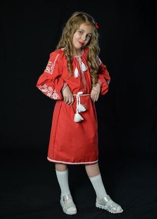 Вишиванка, вышиванка,вишита сукня, сукня з вишивкою для дівчинки 11-12 років