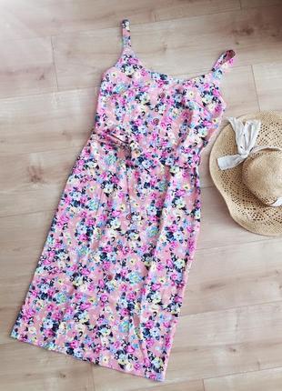 Цветочный  сарафан на лето