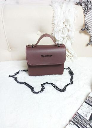 Супер стильная каркасная сумочка клатч на цепочке😍