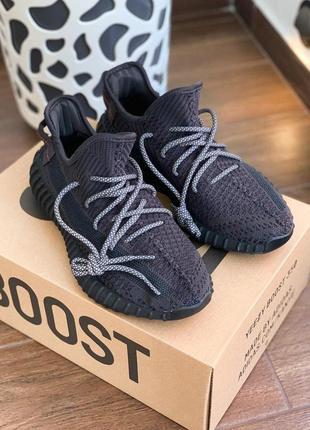 Женские кроссовки adidas yeezy boost 350 v2 black