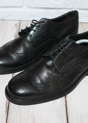 Кожаные туфли броги от geox 40 размер 100% натуральная кожа