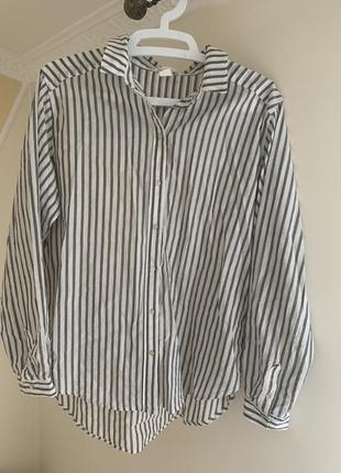 Рубашка в полоску h&m размер m 38