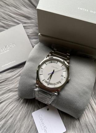 Оригинал! швейцарские мужские часы calvin klein часы оригинал! сталь наручные часы
