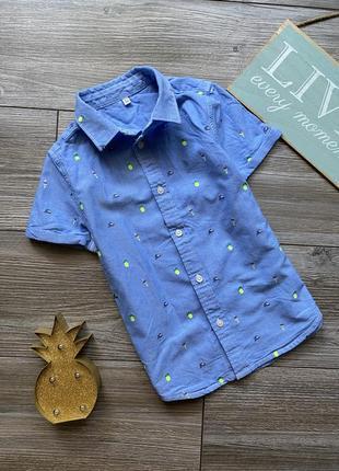 Рубашка с вышивками m&s 4-5л