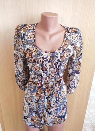 Легкая полупрозрачная разноцветная  блуза