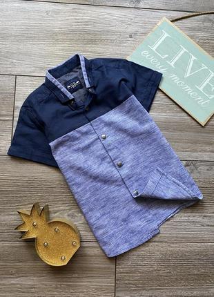 Рубашка next на кнопках 3-4г