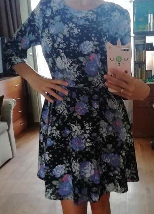 👍🔥распродажа! платье в цветочный принт, в цветы, сукня, сарафан, плаття, с рукавом