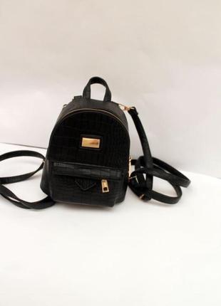 Рюкзак, эко кожа, маленький рюкзак, сумка-рюкзак