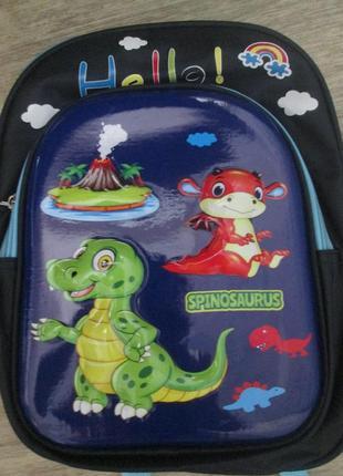 Школьный ранец первокласснику легкий и компактный 3-d рисунок динозавр