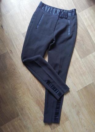 ❤️zara укороченные зауженные брюки, штаны, бриджи, с высокой посадкой