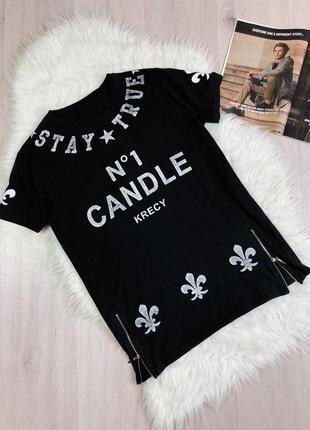 Модная футболка candle krecy