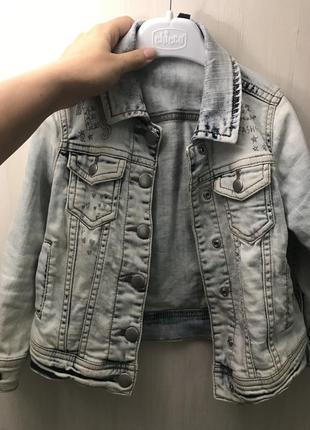 Джинсовая курточка варенка на кнопках