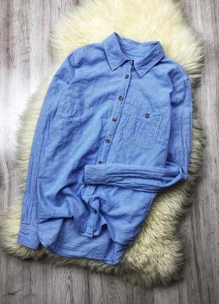 Голуба котонова сорочка