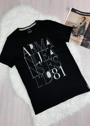 Оригинальная футболка с лого  armani jeans