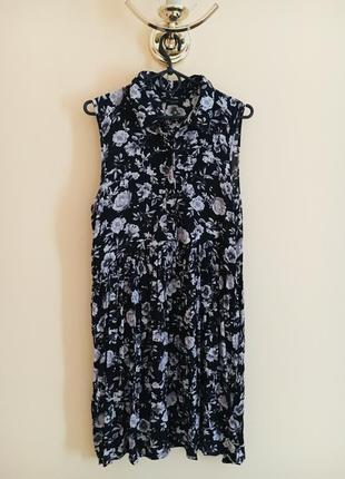 Батал большой размер шикарное натуральное тонкое легкое летнее платье платьице плаття