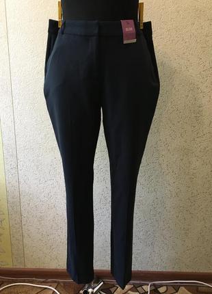 Брендовые темно синие классические новые брюки/женские штаны