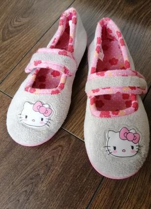 Hello kitty тапочки для дома кеди мокасини