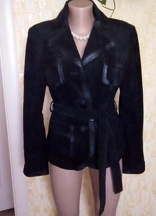 Куртка из натуральной кожи и замши/