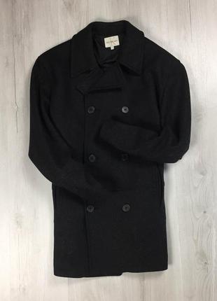 F9 шерстяное пальто calvin klein jeans серое