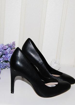Туфли кожа натуральная лодочки 36 р zara