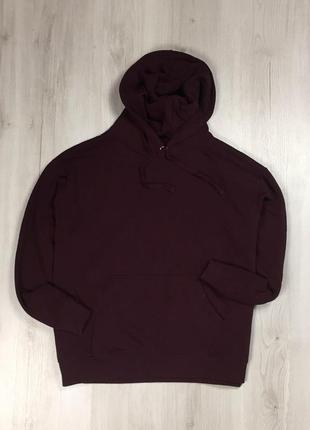 F8 худи h&m толстовка с капюшоном кофта бордовая