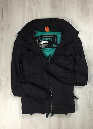 F9 ветровка superdry на мембране супердрю куртка чёрная