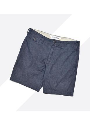Twisted soul 30* / лёгкие хлопковые тёмно-синие джинсовые чино шорты