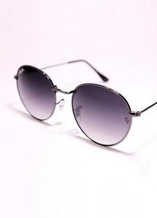 Очки солнцезащитные овальные женские / мужские металлическая оправа