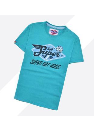 Superdry m / приятная футболка с большим винтажным принтом