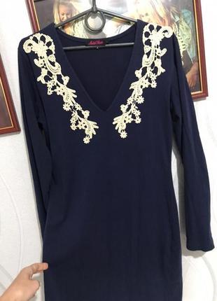 Платье синиее
