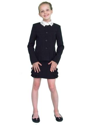 Пиджак школьный для девочки м-863 рост 128 134 140 146 152 158 164 и 170
