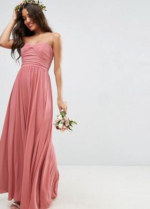 Эксклюзивное платье в пол asos