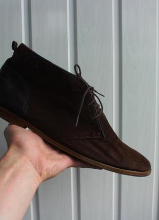 Замшевые туфли topman
