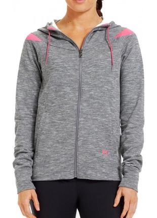 Супер худи от under armour charged cotton storm marble full zip hoodie - grey