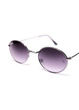 Очки солнцезащитные овальные женские / мужские с фиолетовыми линзами