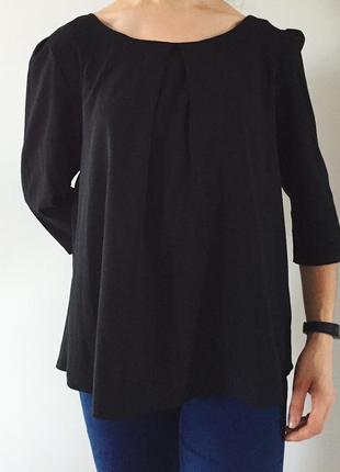 Блуза черного цвета, блузка, кофта, черная легкая блуза от atmosphere.