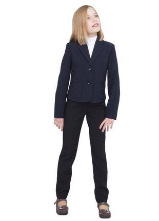 Пиджак школьный для девочки м-515 рост 128 134 140 146 152 и 158 син
