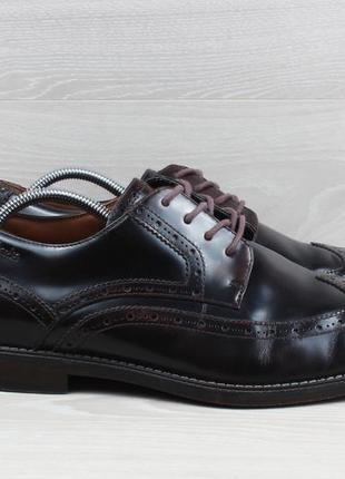 Мужские кожаные туфли броги clarks оригинал, размер 44.5 - 45