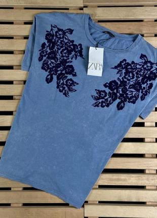 Супер крутая мужская футболка zara man размер l