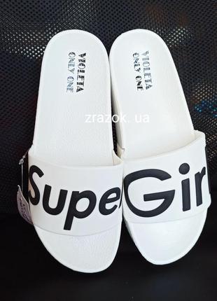 Белые на платформе шлепки шлёпанцы сланцы тапки super girl2 фото