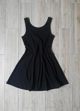 Платье солнце клеш,чорне плаття розмір s