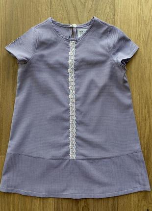 Платье сарафан @don.bacon на девочку голубое в клеточку