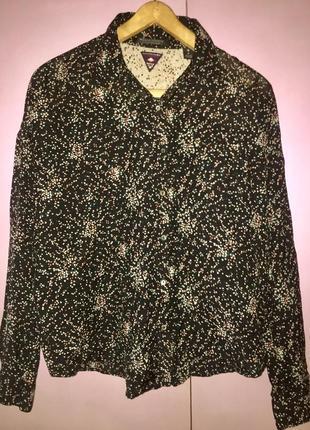 Тонкая лёгкая летняя блузка рубашка из натуральной ткани  хлопок + вискоза