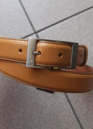 Итальянский кожаный ремень daniel hechter