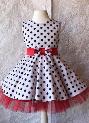 Платье в горох для 3 лет