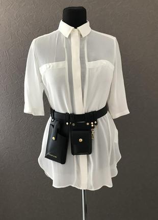 Шикарная рубашка , блуза из натурального шёлка