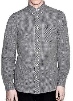 Сорочка рубашка fred perry classic gingham shirt - l
